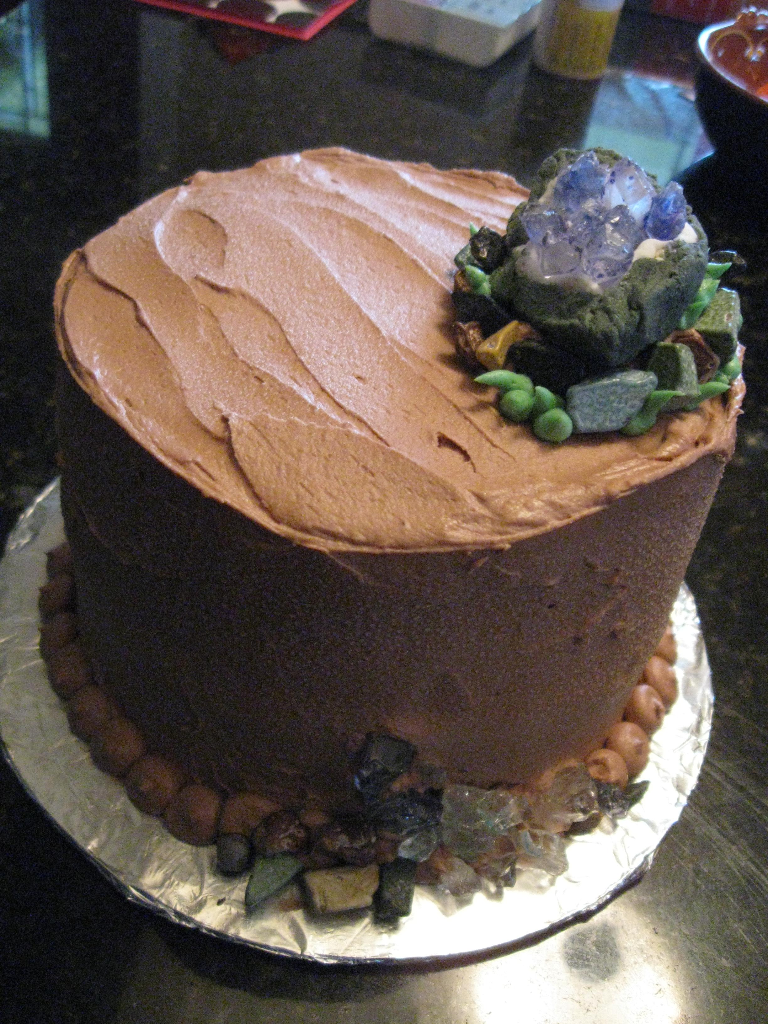 A Rockhound S Birthday Cake Gaitedgardens S Blog